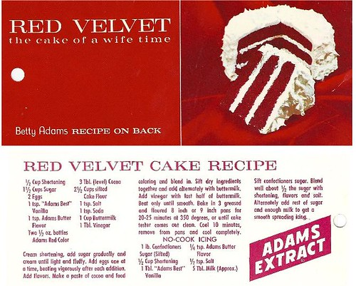 Original Red Velvet Recipe Card