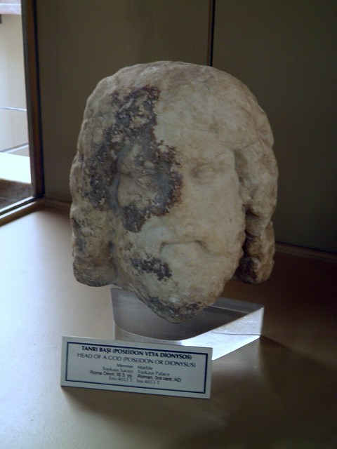 Head of a God (Poseidon of Dionysus), 3rd century AD, Istanbul Archeology Museum
