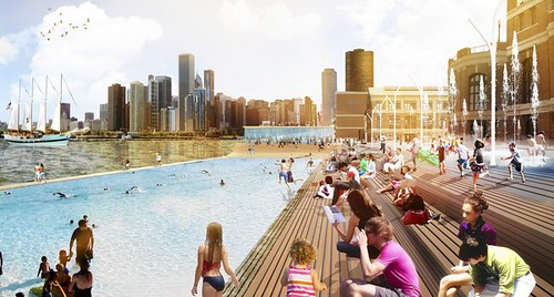 Navy Pier revitalization proposal, swimming pool