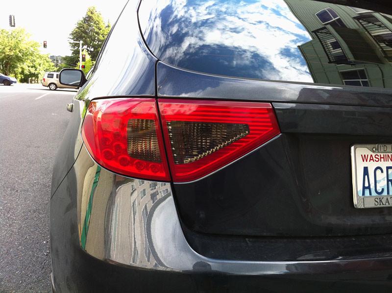 08 Wrx Sti Hatch Tail Light Tint Paint Or Overlays