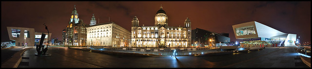 Panorama of Pier Head Liverpool