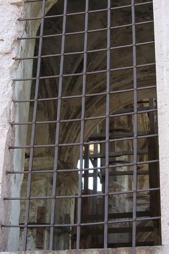 Burhaniye day 2 (Ayvalik): view through the window into the church