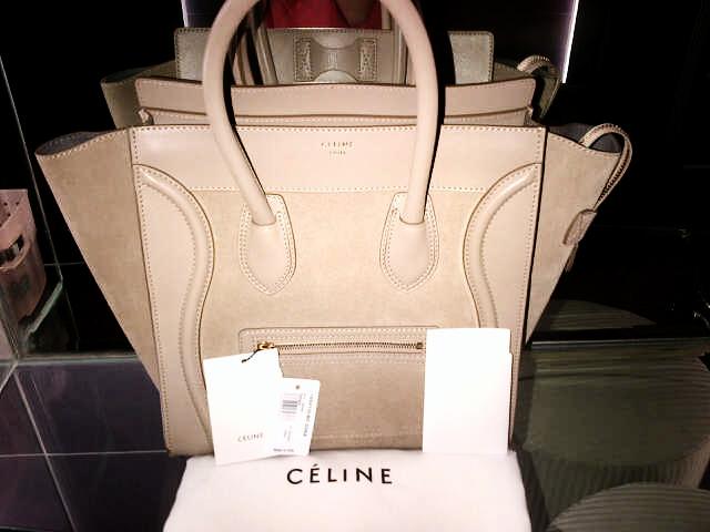 Celine Suede mix Leather Sahara