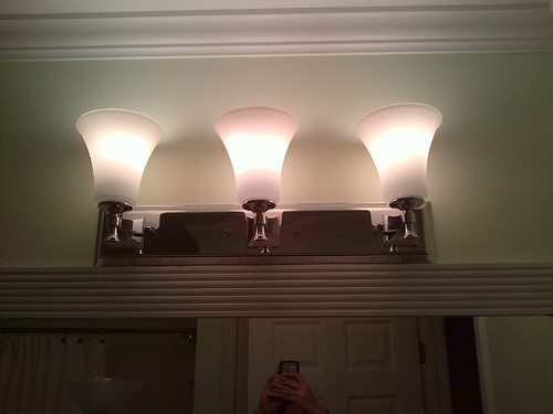 Bathroom Light Fixture Junction Box the curse of the bathroom light fixture | running notes