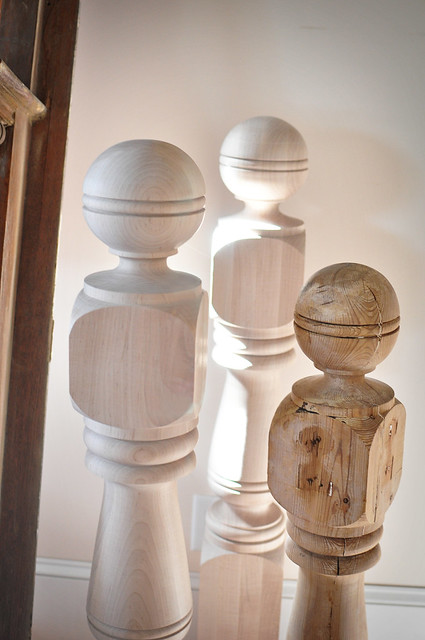 N is for Newel Posts, New and Old