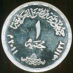 Egypt - Anniversary of Revolution coin