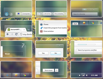 elune theme pour windows 7