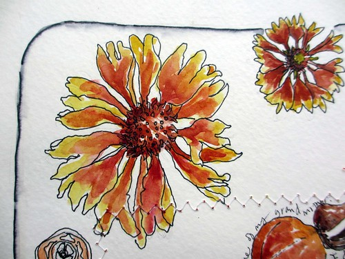 My sketchbook ~ orange detail