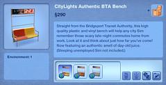 CityLights Authentic BTA Bench