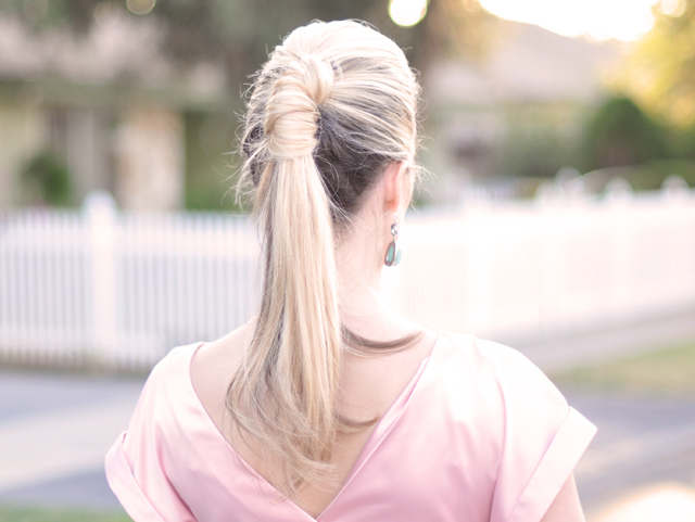 sleek twisted pretty pony tail