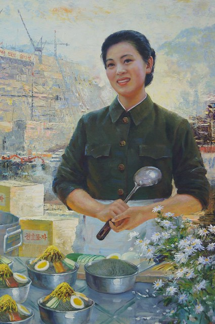 North Korean Lunch Painting