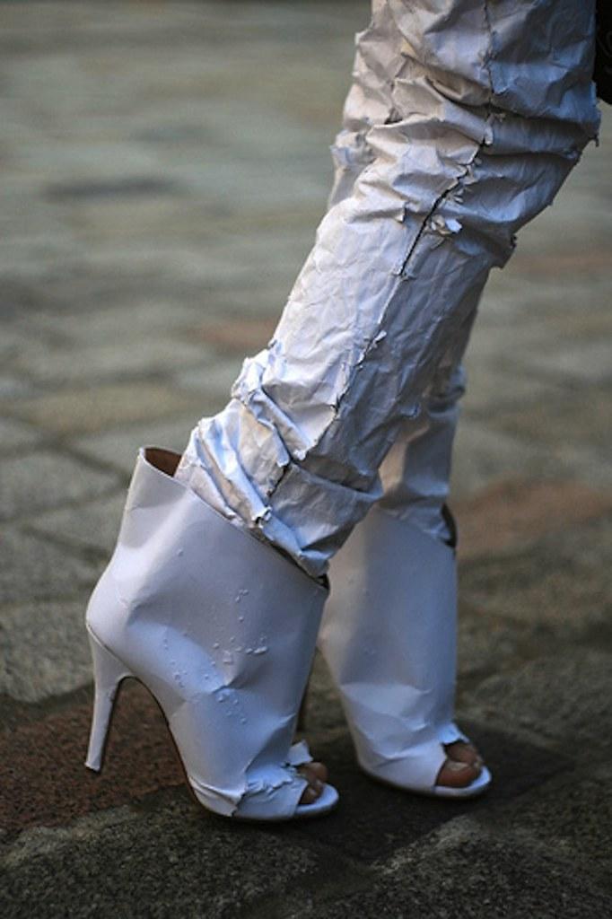 Maison Martin Margiela white paper jeans 2