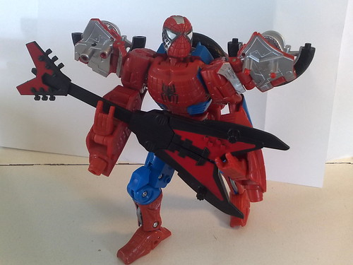 Robo-Spidey Rocks Out