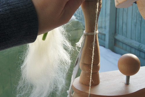 Mohair spinning - two ply