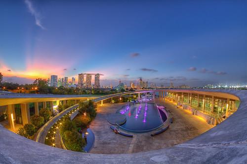 Twilight at the Marina Barrage, Singapore