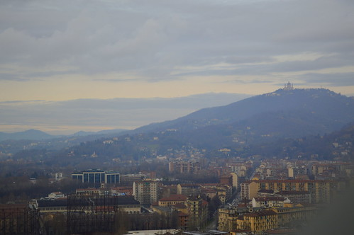 View of Superga from the Mole Antonelliana