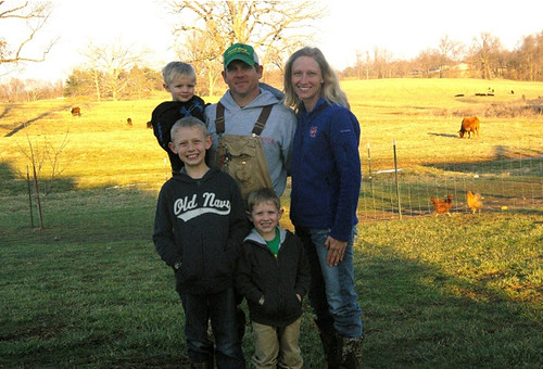 Jake and Jondra Shadowen and family use conservation programs to improve their Benton, Ky. ranch. (NRCS photo)