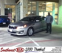 Congratulations to Stacey  Hill on your #Kia #Optima purchase from Juan  Cashat at Southwest KIA Rockwall! #NewCar