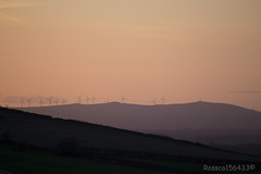 Dalry Windfarm at Sunset from Hills overlooking Kilmarnock...