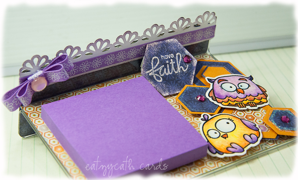 Post-It Holder: purple daze