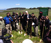 Breaking ground on restoration at Breuner Marsh in California