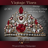 Mothers Day Hunt - Vintage Tiara - Tropical Ruby-Champagne