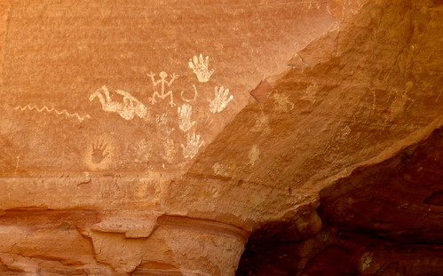 Petroglyphs with Kokopelli