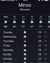 looks like thursday will be the only sunny day for awhile...sigh #minoo #osaka#japan