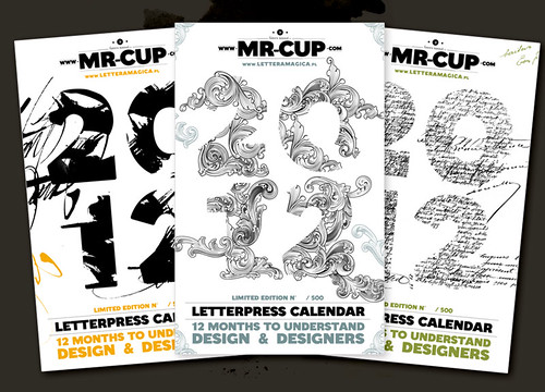 The letterpress calendar : why doing 1 cover when you can do 3 !