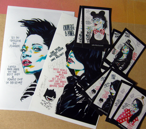 MR.FRIVOLOUS MINI PRINTS & STICKERS