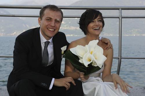 Sara ed Andre, gli sposi il giorno del loro matrimonio