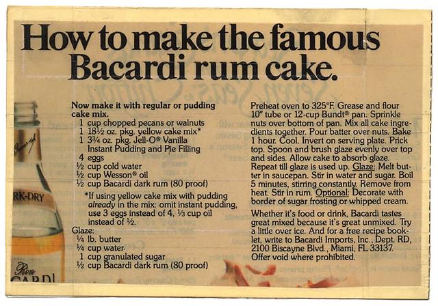 Bacardi Cake Recipe