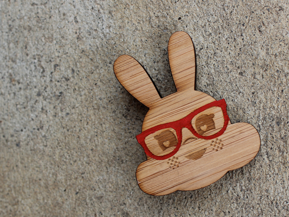 Clever Rabbit Brooch