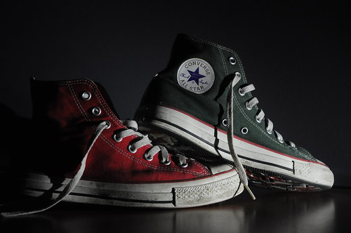 Green on Red Converse! by manacanam