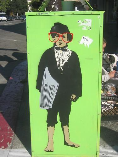 Urban Art: Newspaper Boy