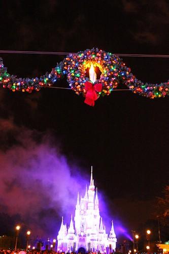 Wreath over Cinderella Castle