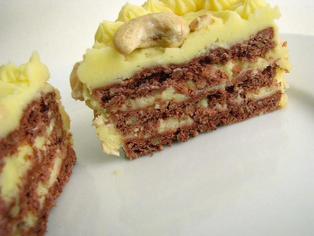 sans rival cake, interior