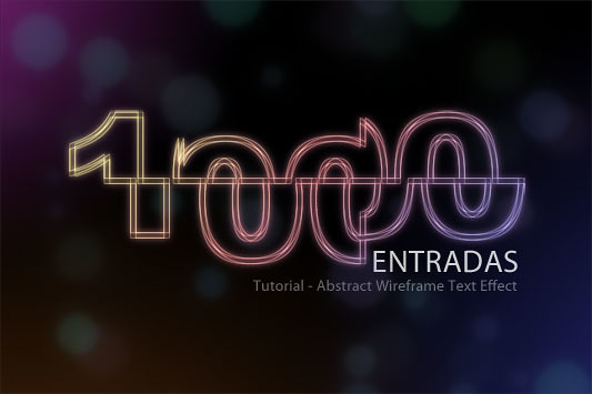 "Tutorial - efecto de texto de alambre abstracto ""Abstract Wireframe"""