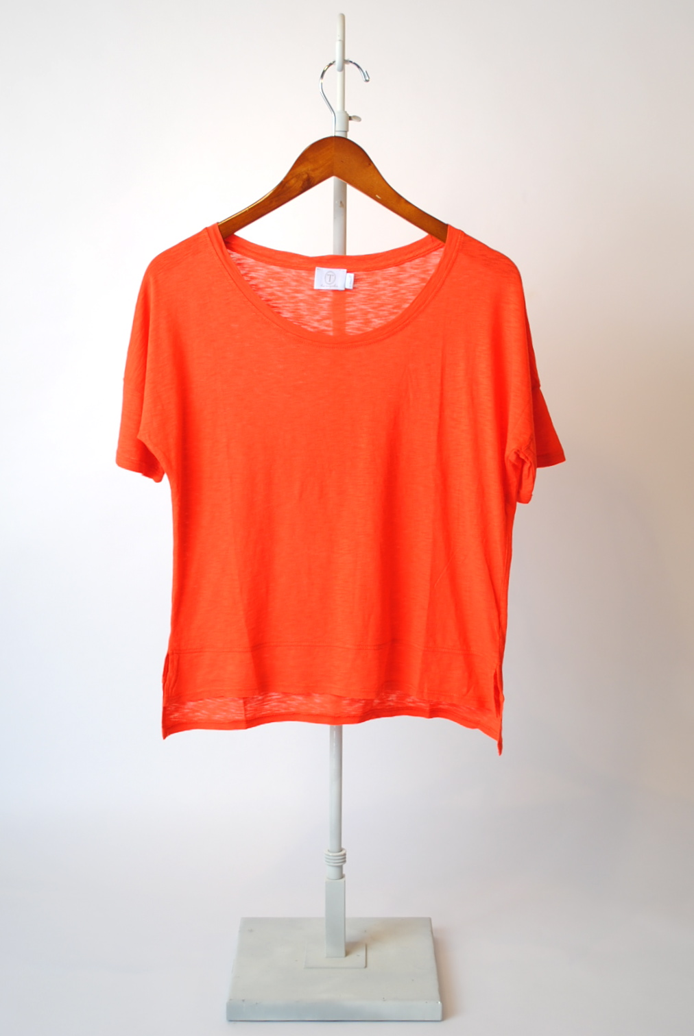 Cropped Short Sleeve Top