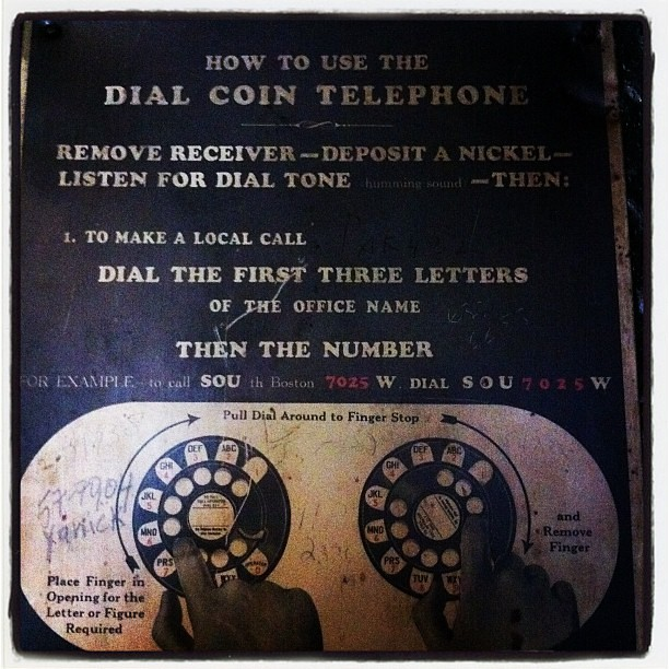 How to use the Dial Coin Telephone #bmm