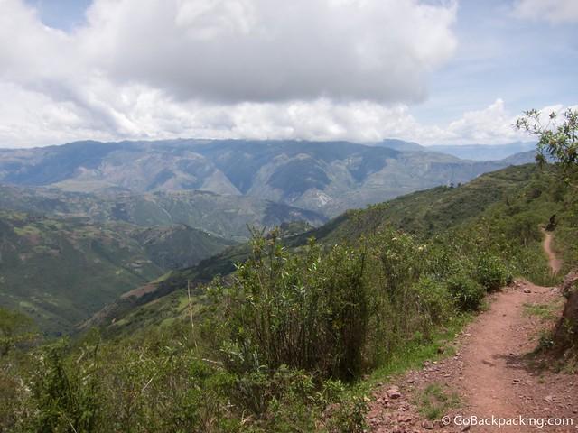 Trail at the start of the Salkantay Trek