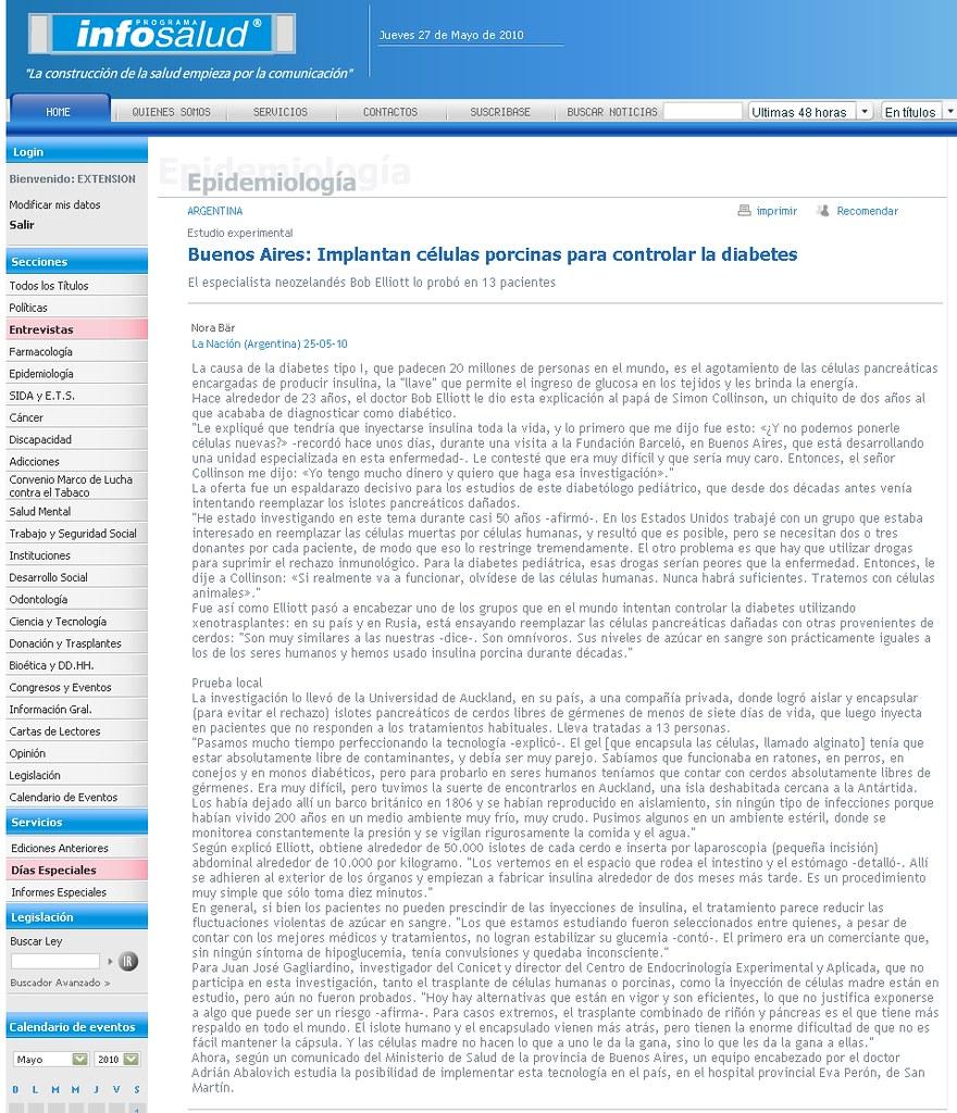 Site Programa Infosalud 25-5-10