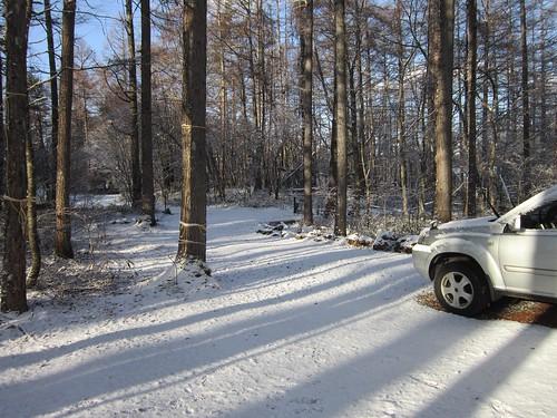 山荘アプローチの積雪 2011年12月7日8:35 by Poran111