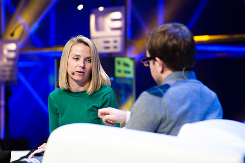 Marissa Mayer, VP, Product Management, Google and MG Siegler, General Partner, CrunchFund  @ LeWeb 11 Les Docks-7467