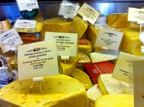 Wensleydale cheeses