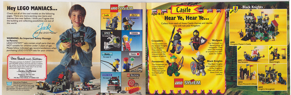 1992 Lego catalog pages 2 and 3