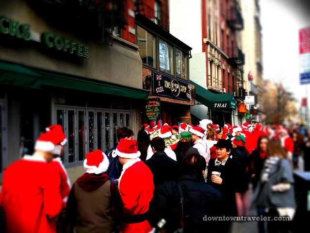 SantaCon NY 2011 East Village Starbucks