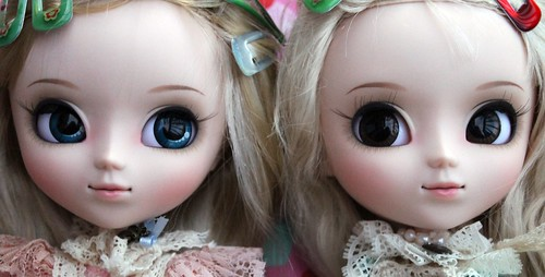 Pink vs Blue Romantic Alice face ups