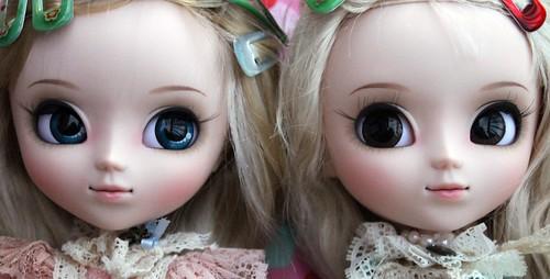 Pink vs Blue Romantic Alice face ups