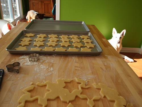 Christmas cookies baking